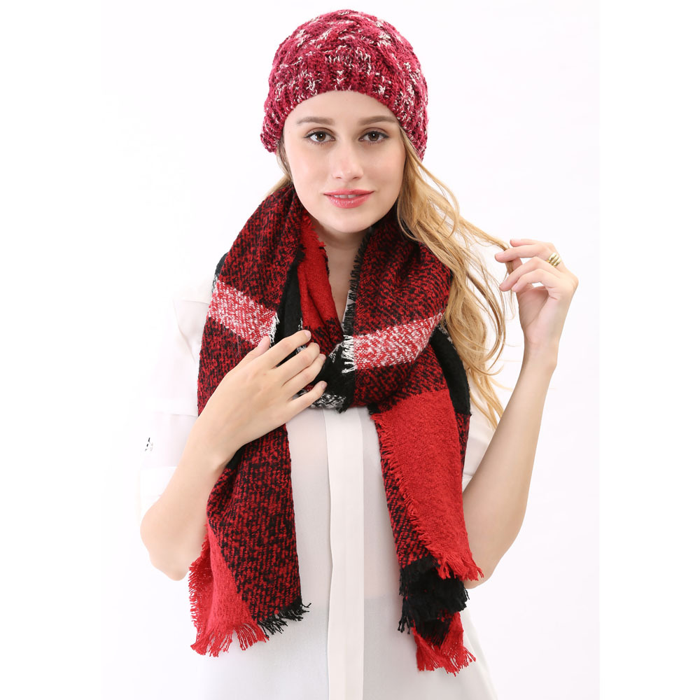 2015 Classical Winter Autumn font b Tartan b font Shawls Wraps for Women High Quality Beautiful