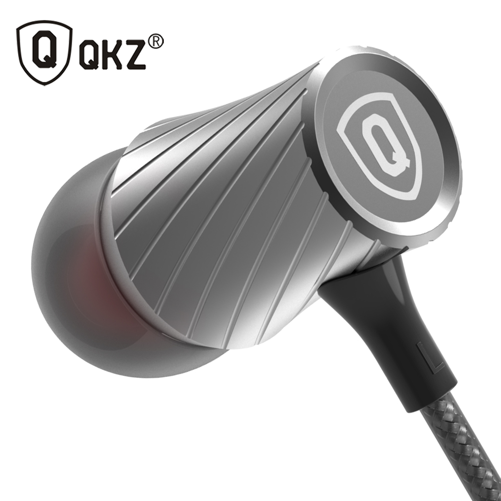 Earphone QKZ DM7 Zinc Alloy In Ear Earphones HiFi Earphone fone de ouvido Headset auriculares audifonos Stereo BASS Metal DJ