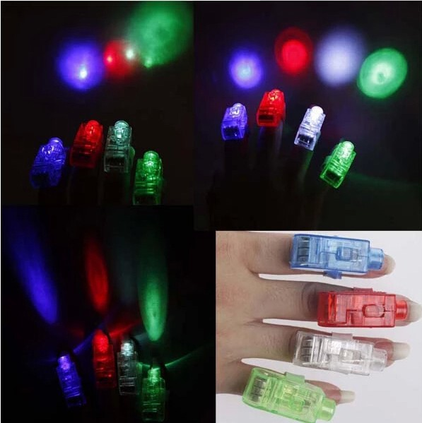 50 pcs/lot led finger light 4 color laser finger lamp light for party. birthday,Chistmas decoration toy  Free shipping TY01(China (Mainland))