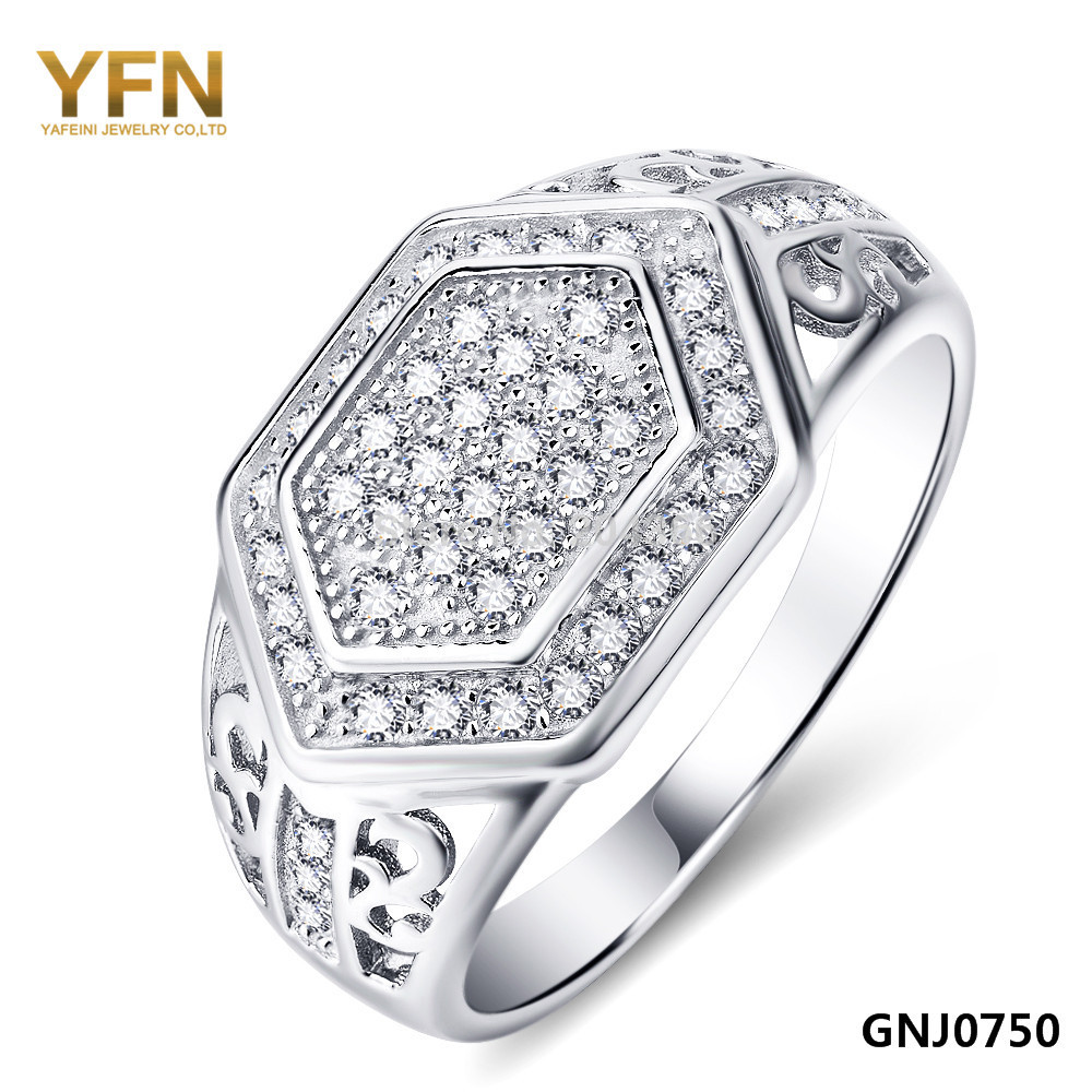 YFN 2016 New Fashion Anel Genuine 925 Sterling Silver Big Rings Men Jewelry CZ Ring Accessories - Elegant Co.,Ltd store