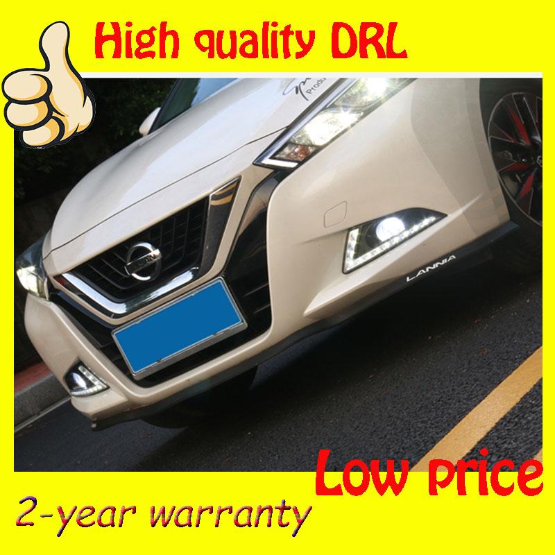 Hot sale ! 12V 6000k LED DRL Daytime running light case for Nissan Bluebird 2016 Fog lamp frame Fog light Super White(China (Mainland))