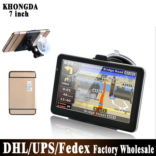 BY DHL UPS 20pcs/lot NO Profit Hot Selling! 7 inch GPS Navigation 4G Free World Map(China (Mainland))