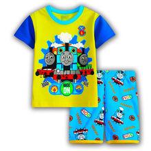 Buy Kids Cartoon Thomas Pajamas Baby Clothing Sets Top+Pants Pyjamas Children Short Sleeve Pijamas Boy Girls Sleepwear Nightwear for $5.80 in AliExpress store