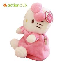 2016 Bow KT Cat Plush Toys Cartoon Bag Backpack Children School Bags Kids Backpacks kids Boys Girls Baby - Bestore Co.,Ltd. store
