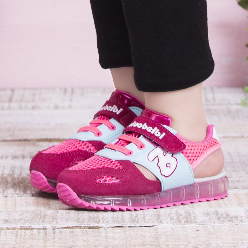 Лето сетчатая ткань дети в сандалии воздушный обувь для девочки размер 21 до 30 мальчики обувь дети кожа сандалии