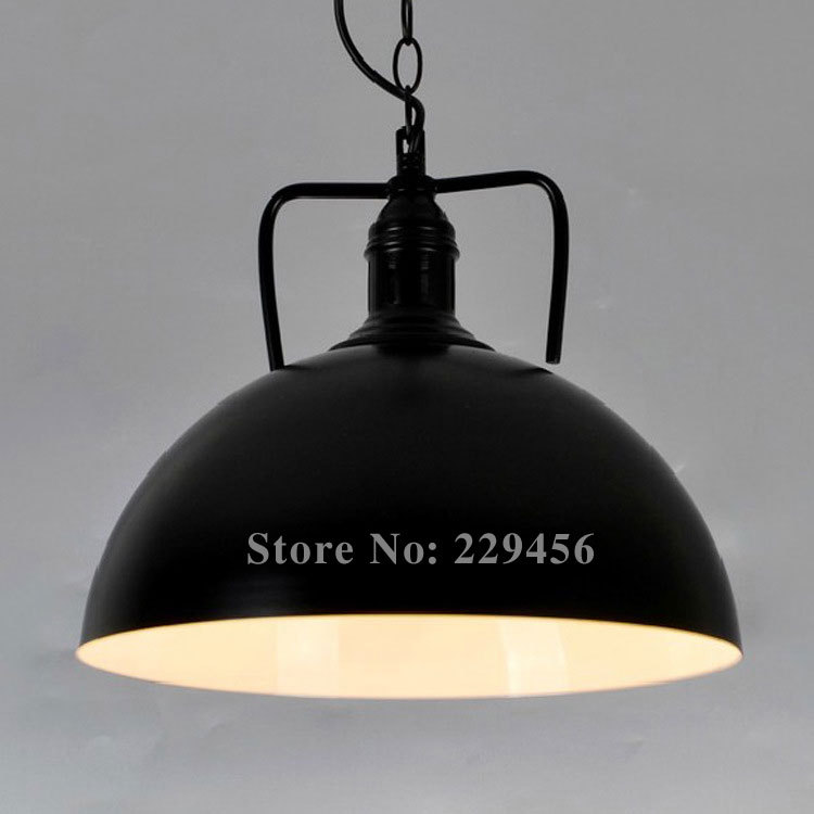 American Country Style Pendant Light Black&White Color Industrial LOFT Fixtures Lamparas Lustre E27 110-240V(China (Mainland))