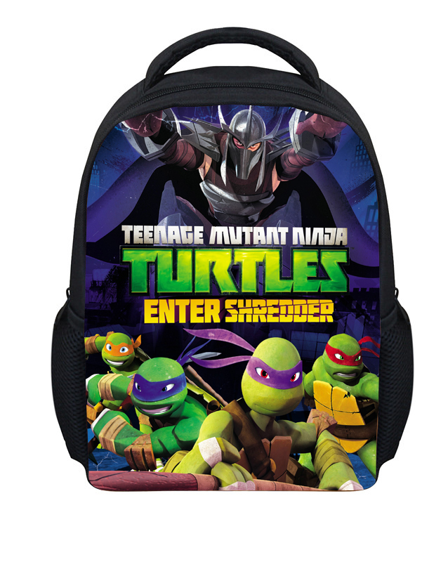 Trendy Kids Cartoon School Bags for Boys Teenage Mutant Ninja Turtle School Bags Small TMNT Schoolbag Kindergarten Baby Mochilas(China (Mainland))