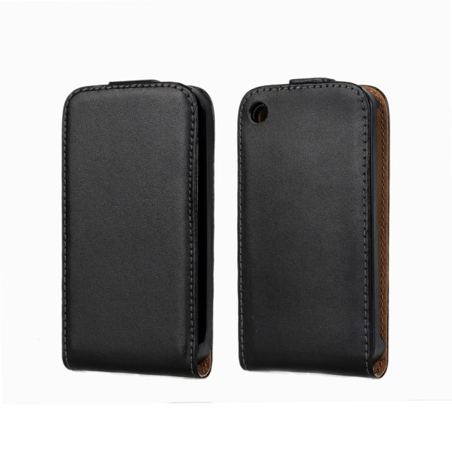 For iPhone 3GS Mobile Phone Case Bag Up and Down Genuine Leather Vertical Flip Cover Full Shell Pouch For Apple iPhone 3G 3GS(China (Mainland))
