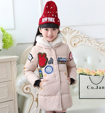 New Hot 2016 Brand Casual Children Parka Girls Winter Coat Long Duck Down Thick Faux Fur Hooded Winter Jacket For Girls(China (Mainland))