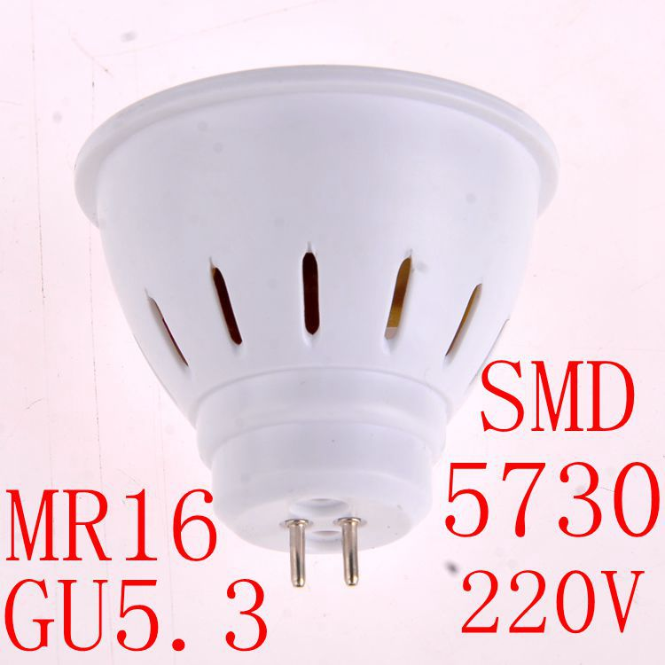 GU10 G5.3 LED lamps led lights Spotlight Bulb MR16 GU5.3 AC220V 230V 240V 4W 6W 5730SMD Cold white/warm white led bulb(China (Mainland))