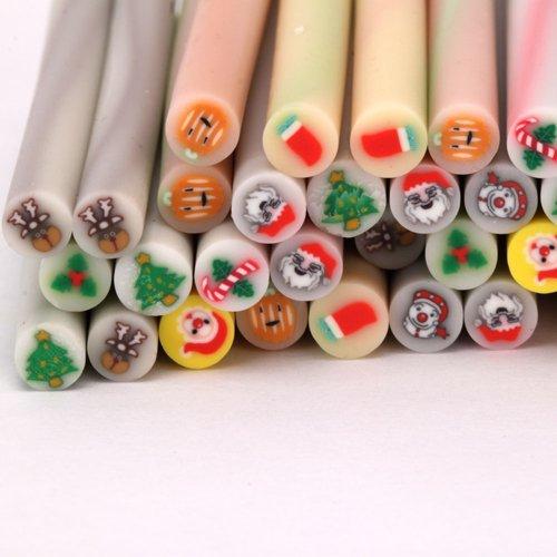 50pcs cute 3d design 3d diy nail art nailart manicure for 3d nail art fimo canes rods decoration