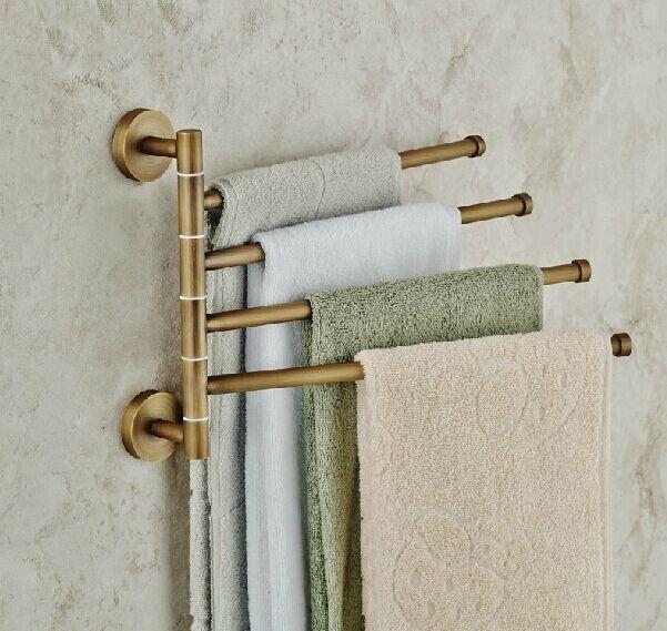 Фотография Antique rotation activities towel rack bathroom bar 246 racks metal pendant