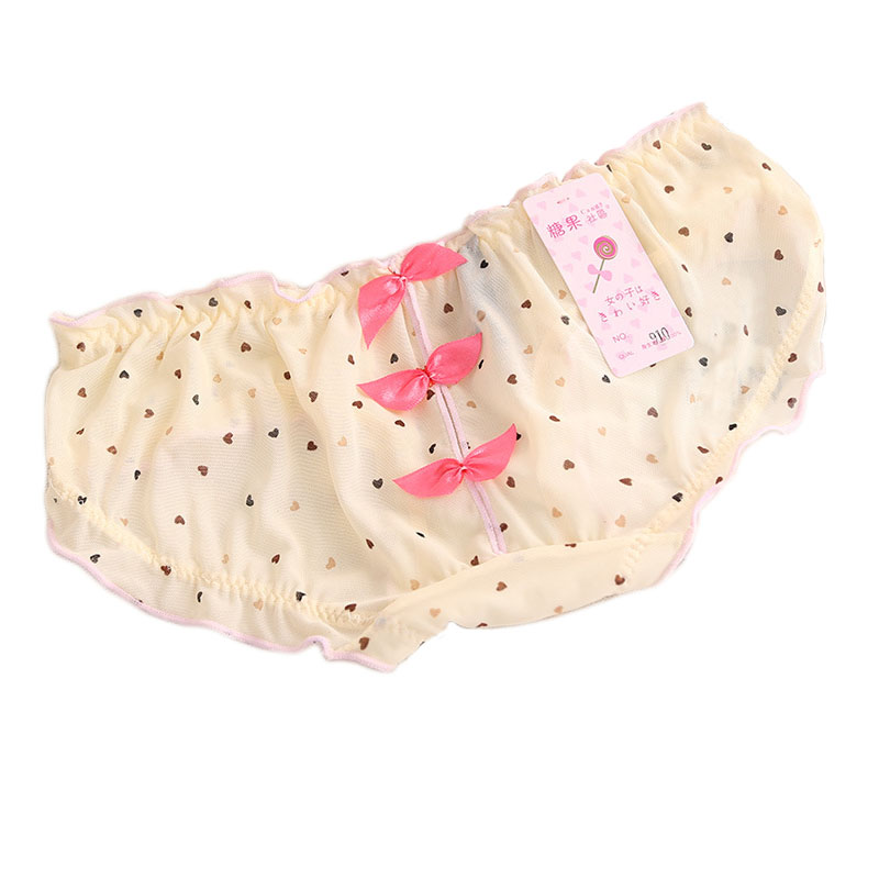 Candy Lace Pink Dot Open Crotch Butterfly Floral Culotte Sexy Panties Briefs Underwear Women Ropa Interior Mujer Calcinhas(China (Mainland))