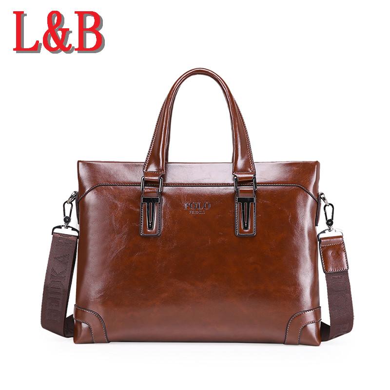 2016 hot selling men's business casual briefcases high quality leather men shoulder messenger bags OL bolsa handbag shoulder bag(China (Mainland))