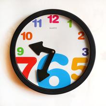 Fashion Lovely Hanging Wall Clock Cartoon Digital Wall Clock Manufacturers Selling Creative Home Decor(China (Mainland))