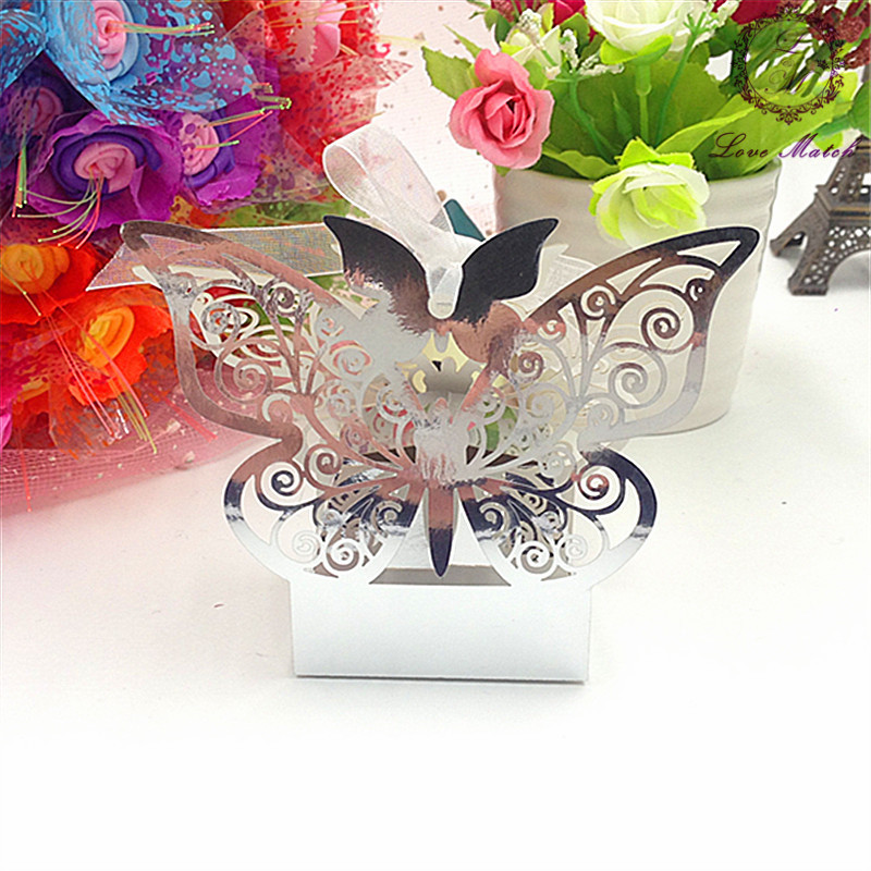 50pcs wedding favors and gifts bright color laser cut candy box wedding party supplies all for wedding wedding favor box(China (Mainland))