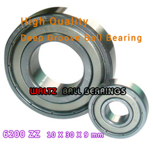 Buy 10mm Aperture High Deep Groove Ball Bearing 6200 10x30x9 Ball Bearing Double Shielded Metal Shields Z/ZZ/2Z for $15.00 in AliExpress store