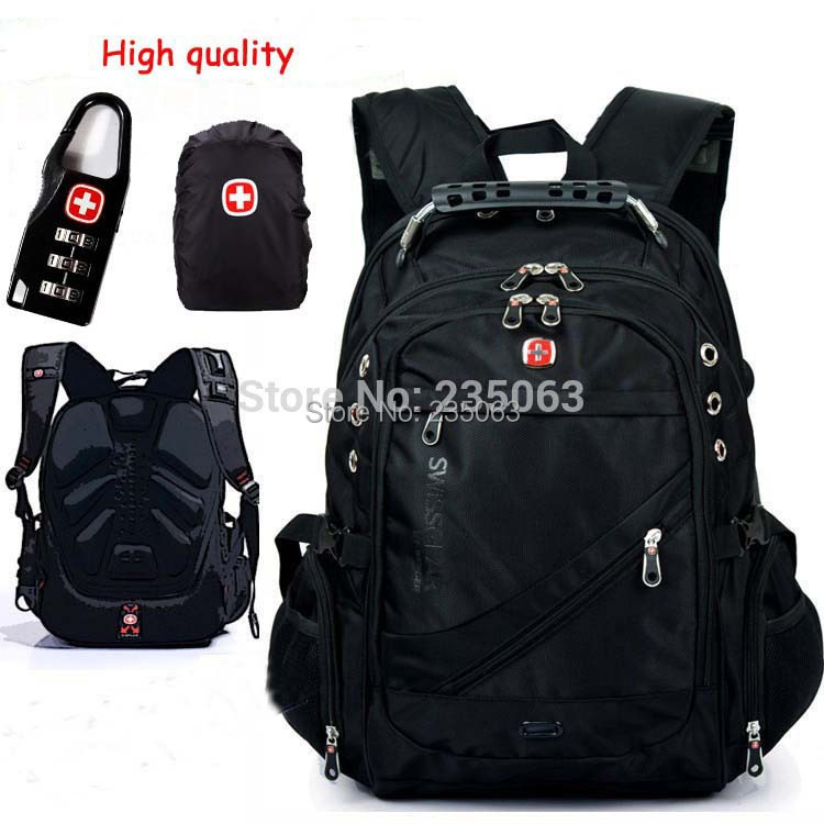 High Quality Assured Brand Nylon Women and Men's Backpack Lint 15 inches Laptop Backpack/Outdoor Travel Backpack School Backpack(China (Mainland))