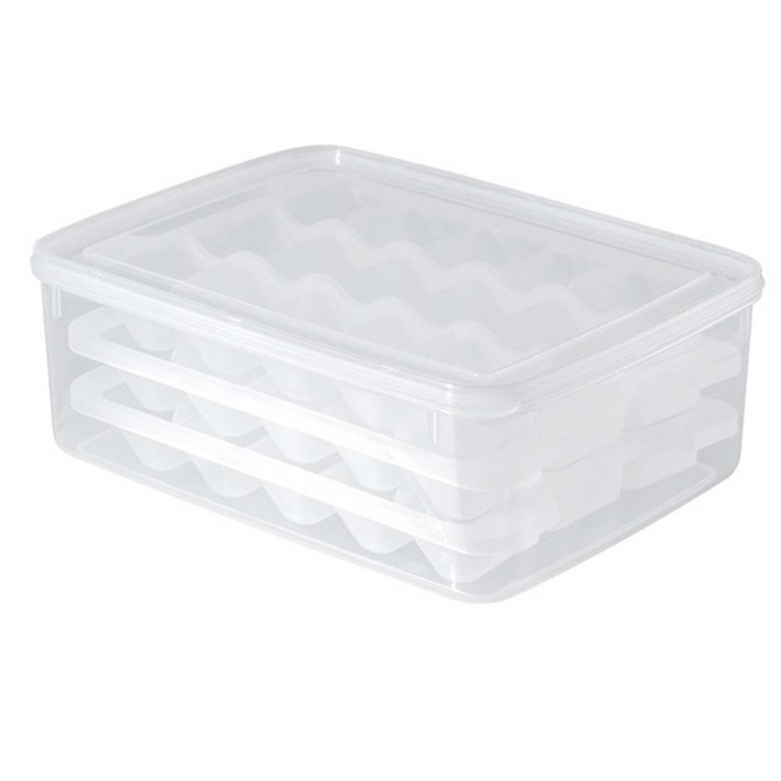 Microwave thawing dumplings tray box, refrigerator fresh frozen dumplings storage box crisper(China (Mainland))
