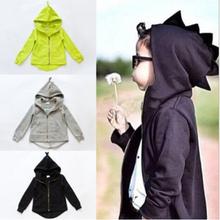 Autumn 2015 new dinosaur hoodies jackets kids, boys and girls jacket outerwear baby sweaters children outerwear retail(China (Mainland))