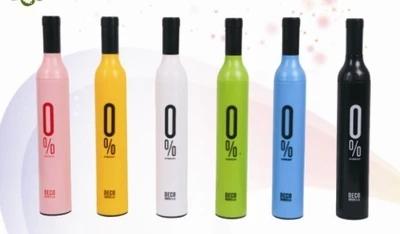 JMJN Высокое Качество Дизайнер Персонализированные Прозрачный Дождь Зонтики Милый И Компактный Руководство 3 Раза Бутылки Вина Зонтик Paraguas