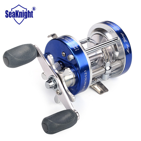 Right Hand Ray Fishing Reel Saltwater Multiplier Baitcasting Reel 2 Precision Ball Bearings 1 One Way Clutch Wheel 5.2:1(China (Mainland))