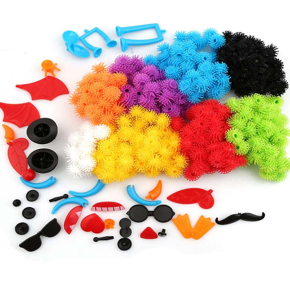 400pcs Kid Educational Assembling 3D Puzzle Toys For Children DIY Puff Ball Squeezed Variety Shape Creative Handmade Toy Puzzles(China (Mainland))