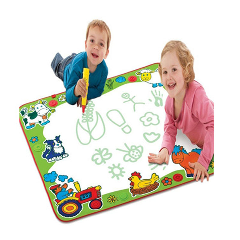 Big size 80cm x 80cm Children Water Drawing Toys drawing board/ mat Aquadoodle play Mat with 1pc Magic Pen(China (Mainland))