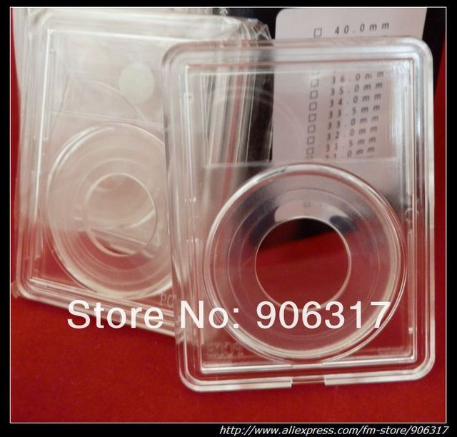 Size 38mm-Free shipping HIGH CLEAR PCCB COIN SNABS/slabs, 30pcs/lot