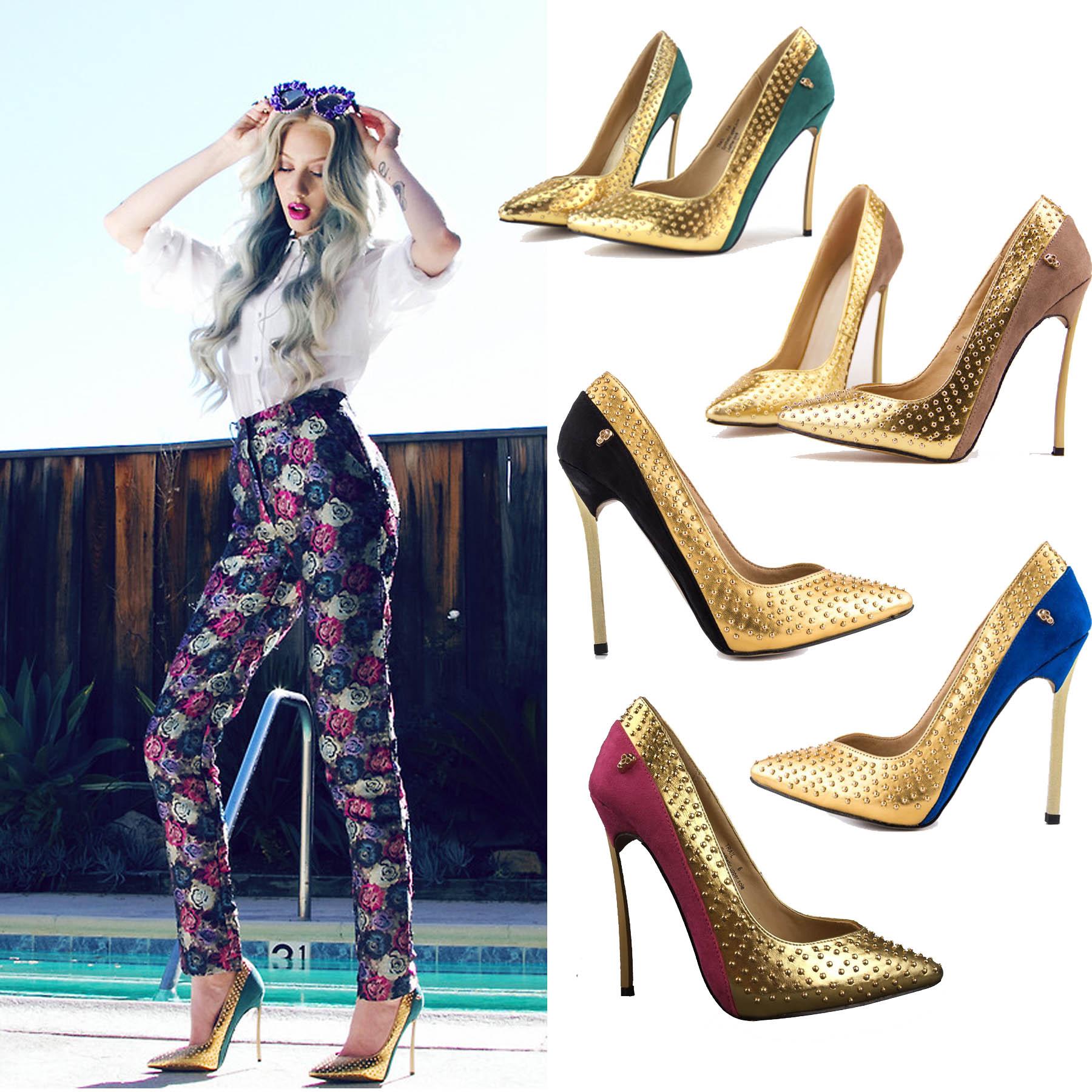 Gold Metal Heels