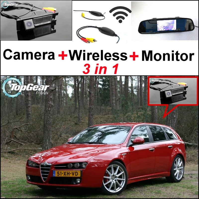 3in1 Special WiFi Rear View Camera + Wireless Receiver + Mirror Monitor DIY Parking System For Alfa Romeo AR 159(China (Mainland))