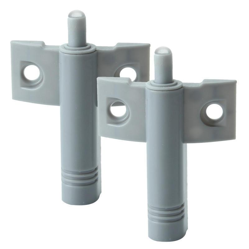 2Pcs Plastic Soft Quiet Close Kitchen Cabinet Door Drawer Closer Damper Buffers Gray(China (Mainland))