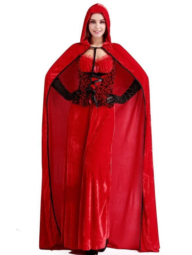 Red riding hood cloak bar queen christmas service cosplay costume