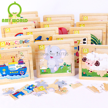 Wooden jigsaw puzzle educational toys for children Early Learning  1pcs = 9.99 USD(China (Mainland))