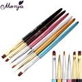 Monya Pro Nail Art Pen Brush Metal Handle UV Gel Polish Builder Tips DIY Coating Line
