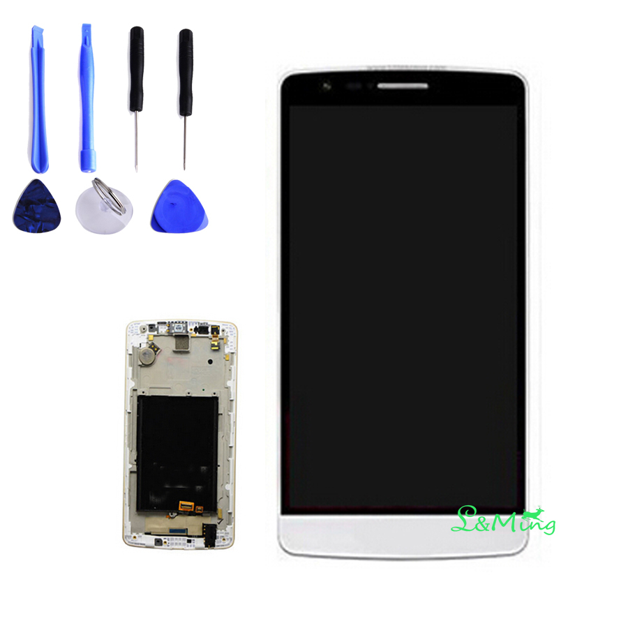 Tested Well White LCD Replacment For LG optimus G3 Mini D722 D724 LCD Touch Screen Digitizer Panel Assembly With Frame+Tools(China (Mainland))
