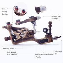 USA Dispatch Pro Rotary Tattoo Machine CNC carving Brass Gun for Shader Liner Made Germany Motor supplies(China (Mainland))