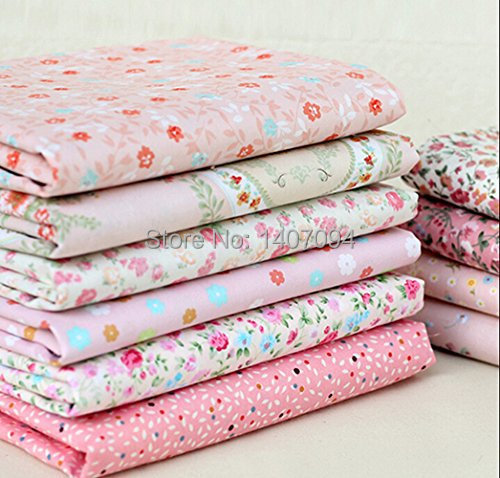 2016 Tissus Tulle Rolls Telas Cotton Fabric Pink Little Flower Sewing 8 Designs Handicraft Arts Material Size 50cmx40cm Color(China (Mainland))