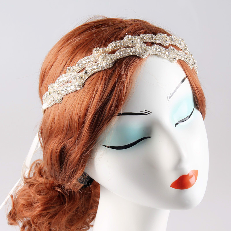 2015 Fashion Women Handmade Headband Crystal Bridal Headbands Wedding Hair Accessories HA128(China (Mainland))