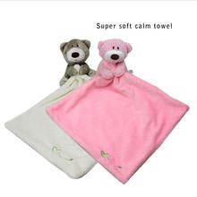 Baby Hand Towels Quadrangular Super Soft Appease Doll Baby Toys Bear Comfort Plush Scarf Saliva Towel Comfort Doll 30*30 Cm(China (Mainland))