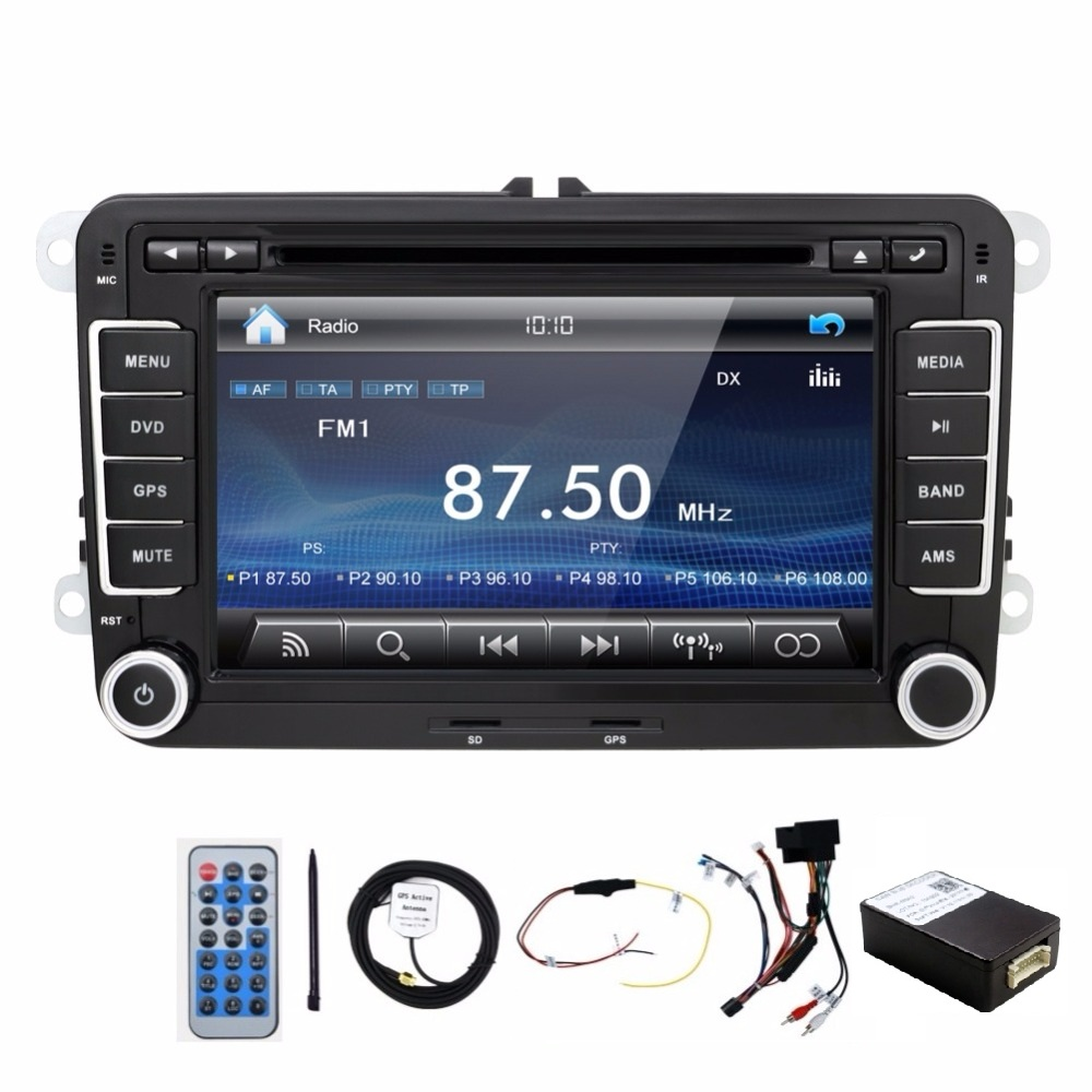 New! 2 din car dvd player VW T5/GOLF V/POLO/PASSAT Variant/SAGITAR/EOS GPS,tv(option) HD Digital,camera,video,radio,usb - beley Store store