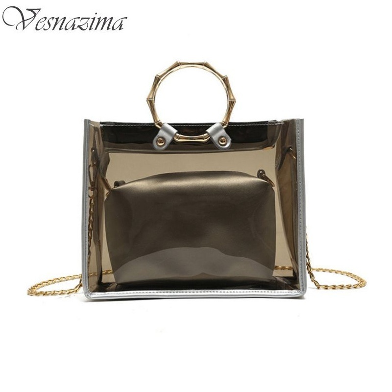 summer tote pvc sea bag fashionable beach bags transparent small plastic women bag ladies' handbags top-handle mini bag WM163YL(China (Mainland))