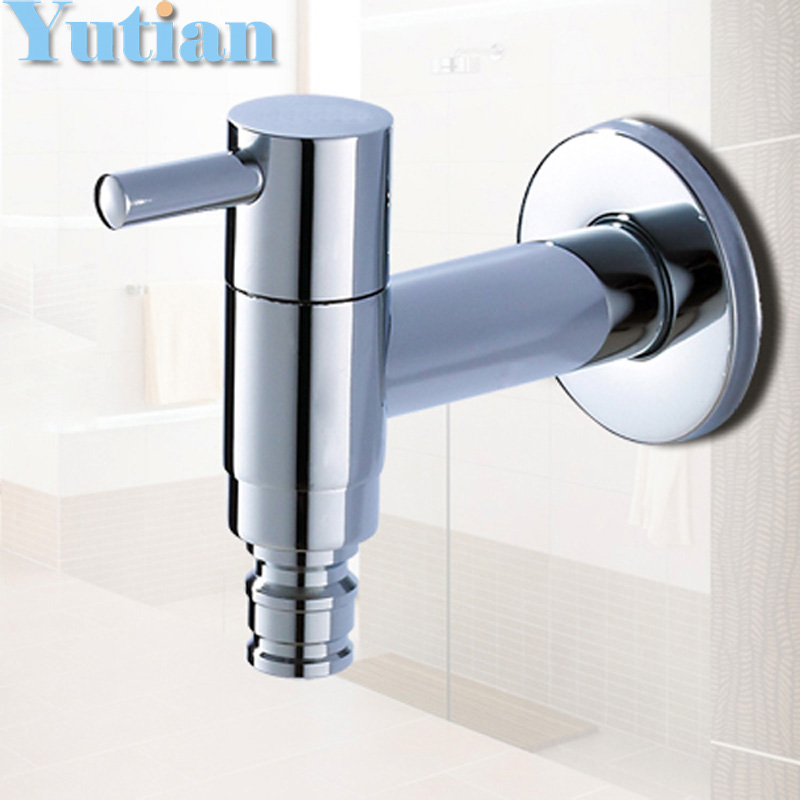 Cold Tap Washing Machine Bathroom Faucet Bibcock faucet tap crane Brass washing machine, laundry mop pool cock torneira grifos(China (Mainland))