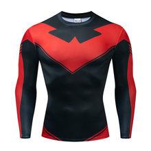 Shazam 3D печатных футболки мужские обтягивающие рубашки рукав реглан 2019 новейший узор комиксов топы Мужские комиксы косплей костюм ткань(China)