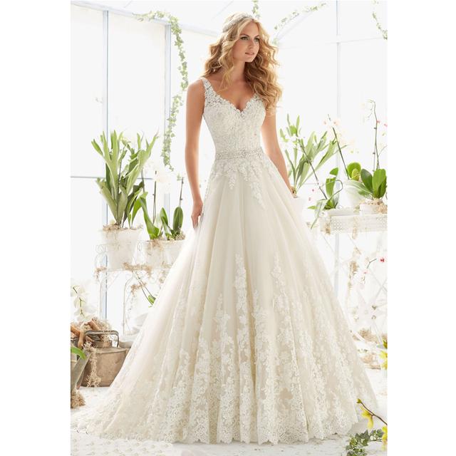 Свадебные платья доступное элегантный шик-линии свадебные v-образным вырезом без ...