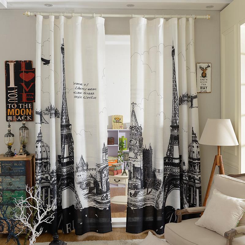 Achetez en gros tour eiffel rideaux en ligne des for Style de rideaux pour salon