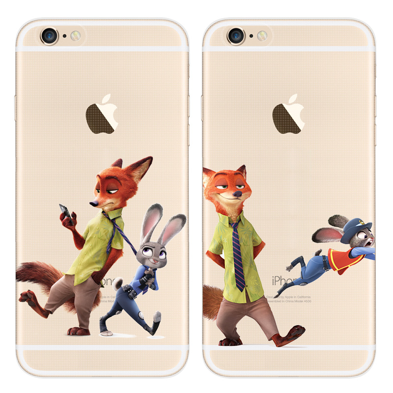 Justice Rabbits Despicable Zootopia transparent Phone Case For Apple Iphone 5 SE Soft Tpu Silicone Cover Clear Rubber Cover(China (Mainland))