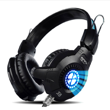 2 kind Deep Bass USB Game Headphone Stereo Casque Audio Over-Ear Gaming Headset Headband Earphone with Mic for Computer PC Gamer