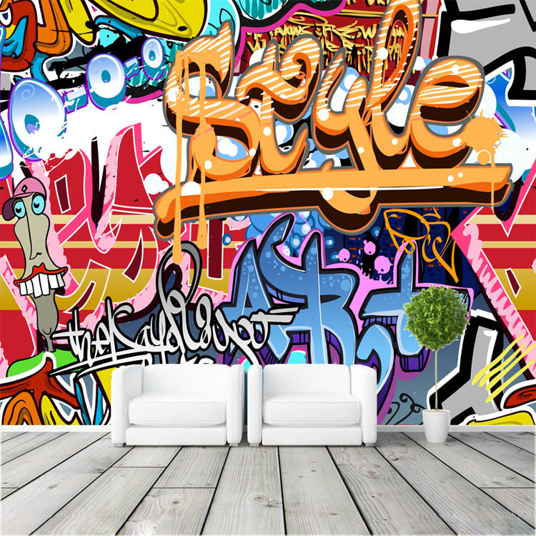 Graffiti boys urban art photo wallpaper popular wallpaper for Boys mural wallpaper