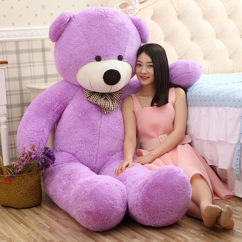 Big Sale Giant teddy bear 220cm giant teddy bear large big stuffed toys animals plush kid children baby dolls valentine gift(China (Mainland))